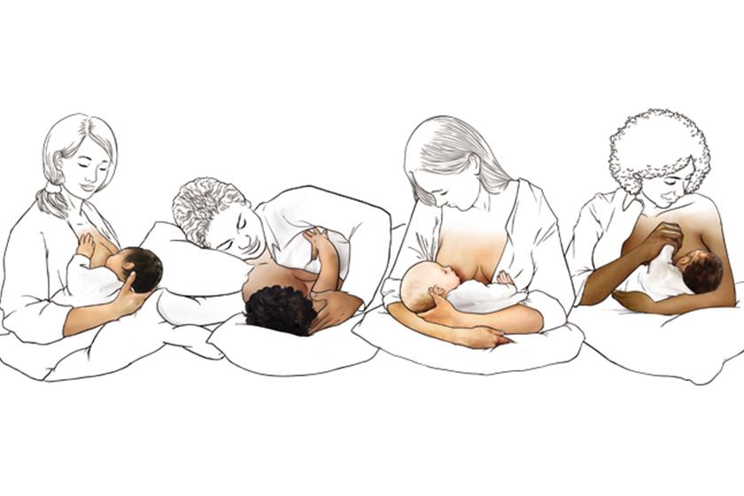 Les différentes positions pour allaiter un bébé
